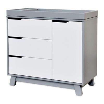 Grey White Changer Dresser