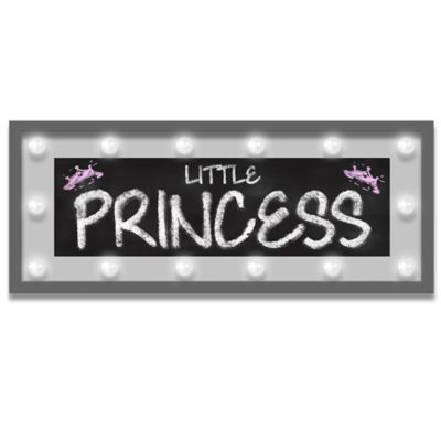 "Design House LA Framed ""Little Princess"" Light-Up Sign"