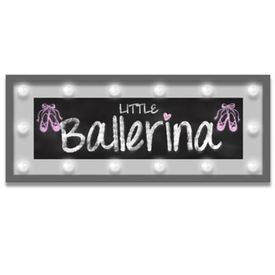 "Design House LA Framed ""Little Ballerina"" Light-Up Sign"