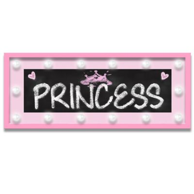 "Design House LA Framed ""Princess"" Light-Up Sign in Pink"