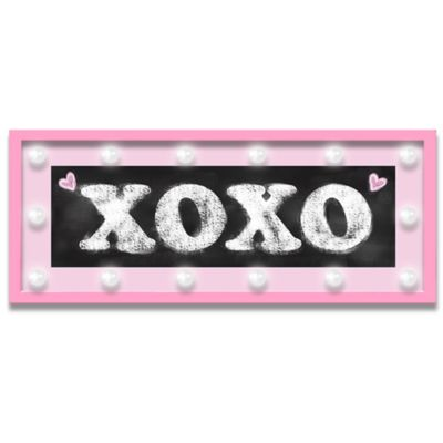 "Design House LA Framed ""XOXO"" Light-Up Sign in Pink"