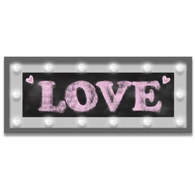 "Design House LA Framed ""Love"" Light-Up Sign"