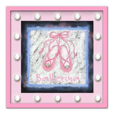 Design House LA Framed Ballerina Shoes Drawing Light-Up Sign