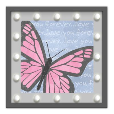 "Design House LA Framed ""Love You Forever"" Butterfly Light-Up Sign"