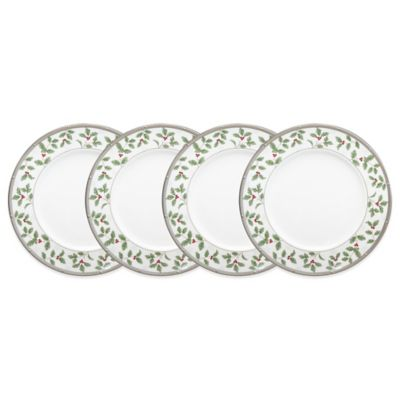 Platinum Holiday Plates
