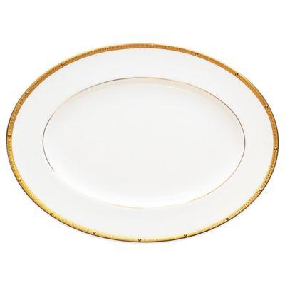 Noritake® Rochelle Gold 12-Inch Oval Platter