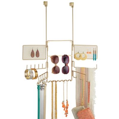 InterDesign® Classico Over-the-Door Jewelry Organizer in Bronze