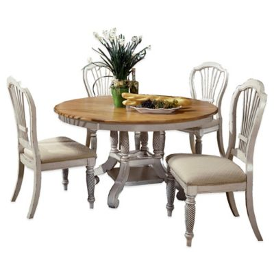 Hillsdale Wilshire 5-Piece Round Dining Set in Antique White