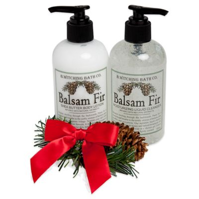 B. Witching Bath Co. Balsam Fir Body Lotion and Liquid Cleanser Gift Set