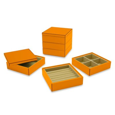 Swing Design™ Elle Lacquer Stacking Jewelry Box in Green (Set of 3)