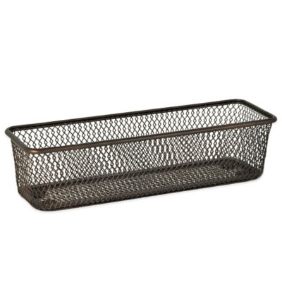 .ORG Mesh 3-Inch x 9-Inch Drawer Organizer in Oil-Rubbed Bronze