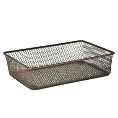 .ORG Mesh 6-Inch x 9-Inch Drawer Organizer in Oil-Rubbed Bronze