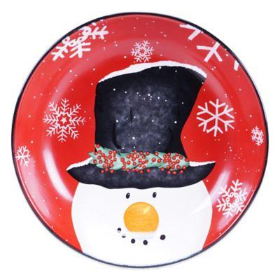 Certified International Top Hat Snowman Pasta/Serving Bowl