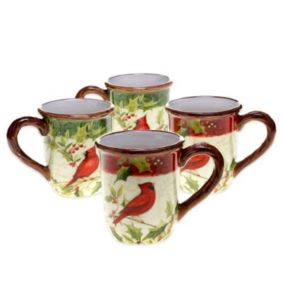 Certified International Winter Wonder Assorted Mugs (Set of 4)