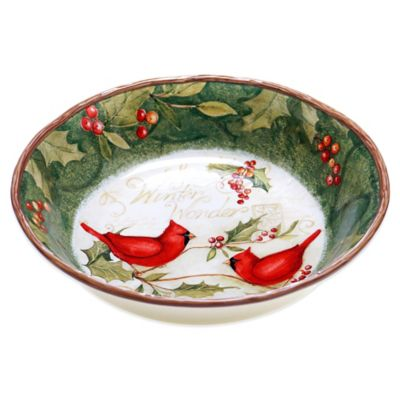 Certified International Winter Wonder Pasta/Serving Bowl