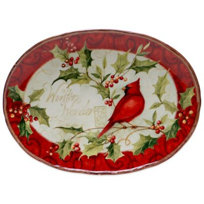 Certified International Winter Wonder Oval Platter