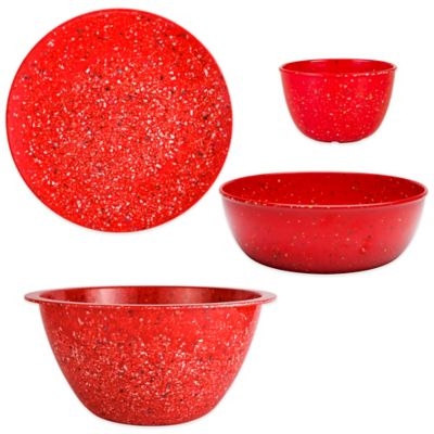 Zak! Designs® Confetti 10-Piece Dinnerware Set in Red