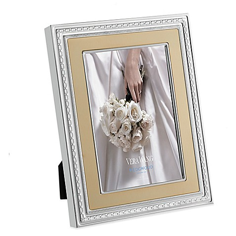 vera wang wedgwood with love gold 8 inch x 10 inch picture frame. Black Bedroom Furniture Sets. Home Design Ideas