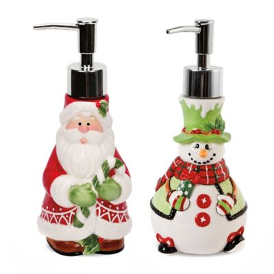 Fitz and Floyd® Holiday Soap Dispensers (Set of 2)