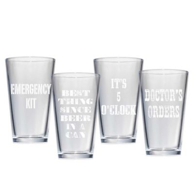 Artland Assorted Barkeep Growler Pub Glasses (Set of 4)
