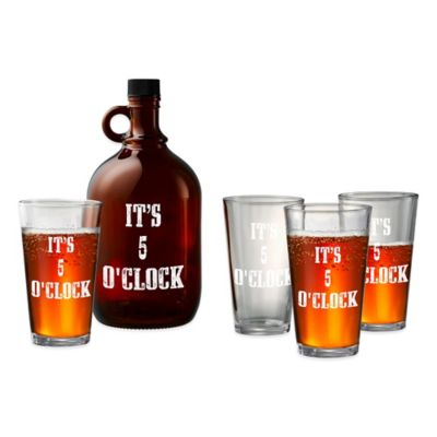 Artland Barkeep Beer Growler and Assorted Pub Glasses Set