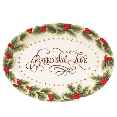 "Fitz and Floyd® ""Baked with Love"" Oval Cookie Platter"