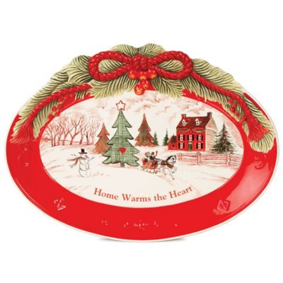 "Fitz and Floyd® ""Home Warms the Heart"" Oval Cookie Platter"