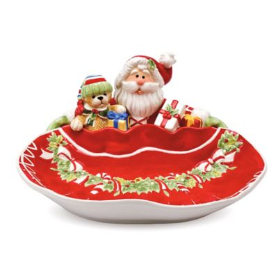 Fitz and Floyd® Candy Cane Santa Server