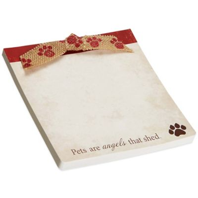 "CR Gibson ""Pets Are Angels That Shed"" Deluxe Notepad with Ribbon"