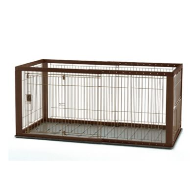 Richell Expandable Small Pet Crate with Floor Tray