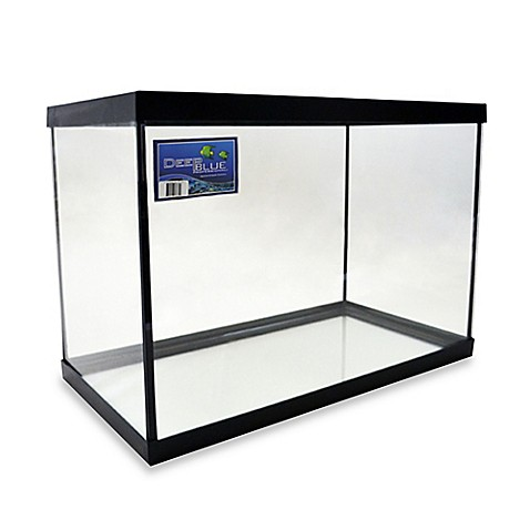 Buy deep blue professional 20 gallon fish tank with black for Deep blue fish tanks