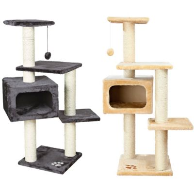 Grey White Cat Tree