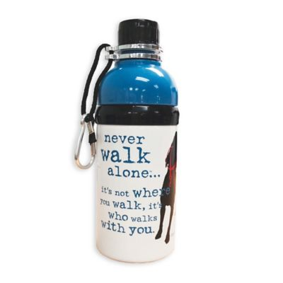 "Dog Is Good® ""Never Walk Alone"" 16 oz. Water Bottle in Taupe"