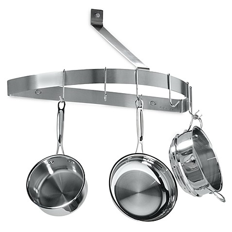 Cuisinart® Brushed Stainless Steel Half Circle Wall Pot Rack