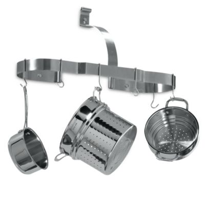 Cuisinart® Brushed Stainless Steel Oval Wall Pot Rack