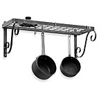 Enclume® Decor Bookshelf Hammered Steel Pot Rack