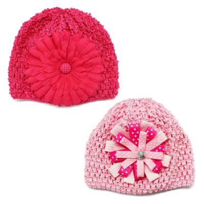 2-Pack Crochet Hat in Pink