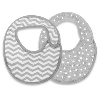 SKIP*HOP® 2-Pack Reversible Bib in Grey