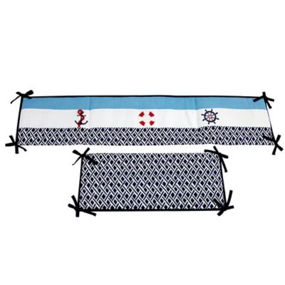Nautica Kids® Whale of a Tale 4-Piece Crib Bumper