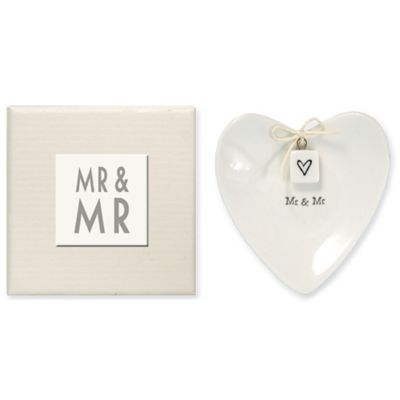 "Two's Company® ""Mr. & Mr."" Ring Dish"