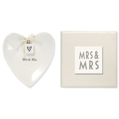 "Two's Company® ""Mrs. & Mrs."" Ring Dish"