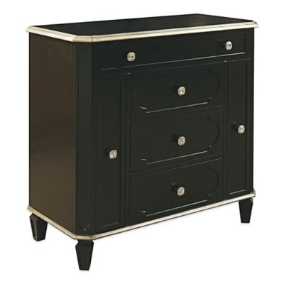 Bombay® Jewel Accent Wooden Jewelry Chest w/ Faux Diamond Drawer Pulls