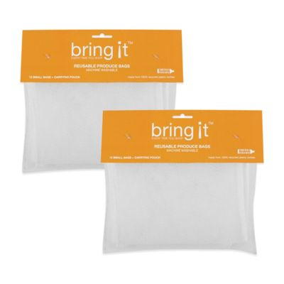Small 8-Inch x 12-Inch Mesh Produce Bags (Set of 24)