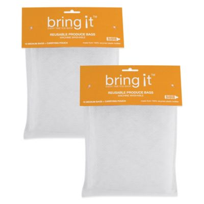 Large12-Inch x 14-Inch Mesh Produce Bags (Set of 20)