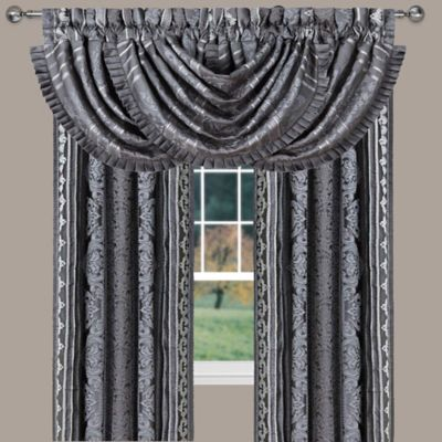 Charcoal Gray Valances for Windows