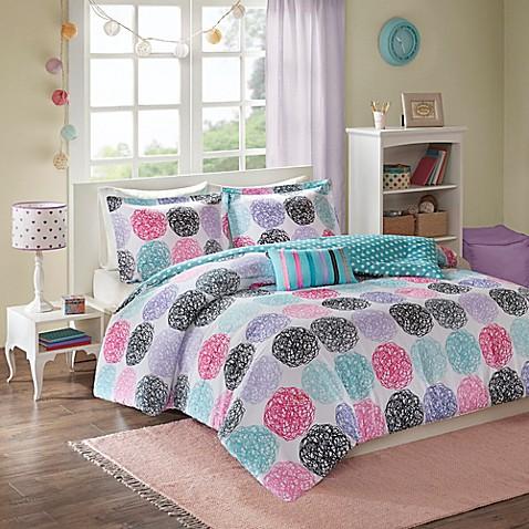 Mizone Carly Comforter Set In Purple Bedbathandbeyond Com