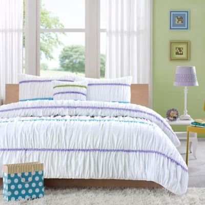 Purple Green Comforter