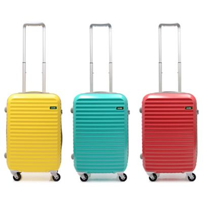 Lojel Groove Zipper 19.5-Inch Carry-On Spinner Luggage in Yellow