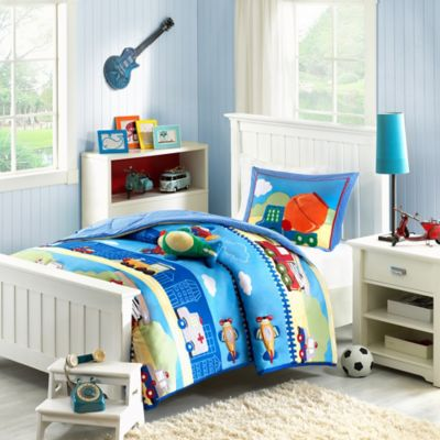Mizone Kids Totally Transit Reversible Twin Comforter Set