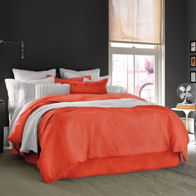 Kenneth Cole Reaction Home Mineral Full/Queen Duvet Cover in Poppy